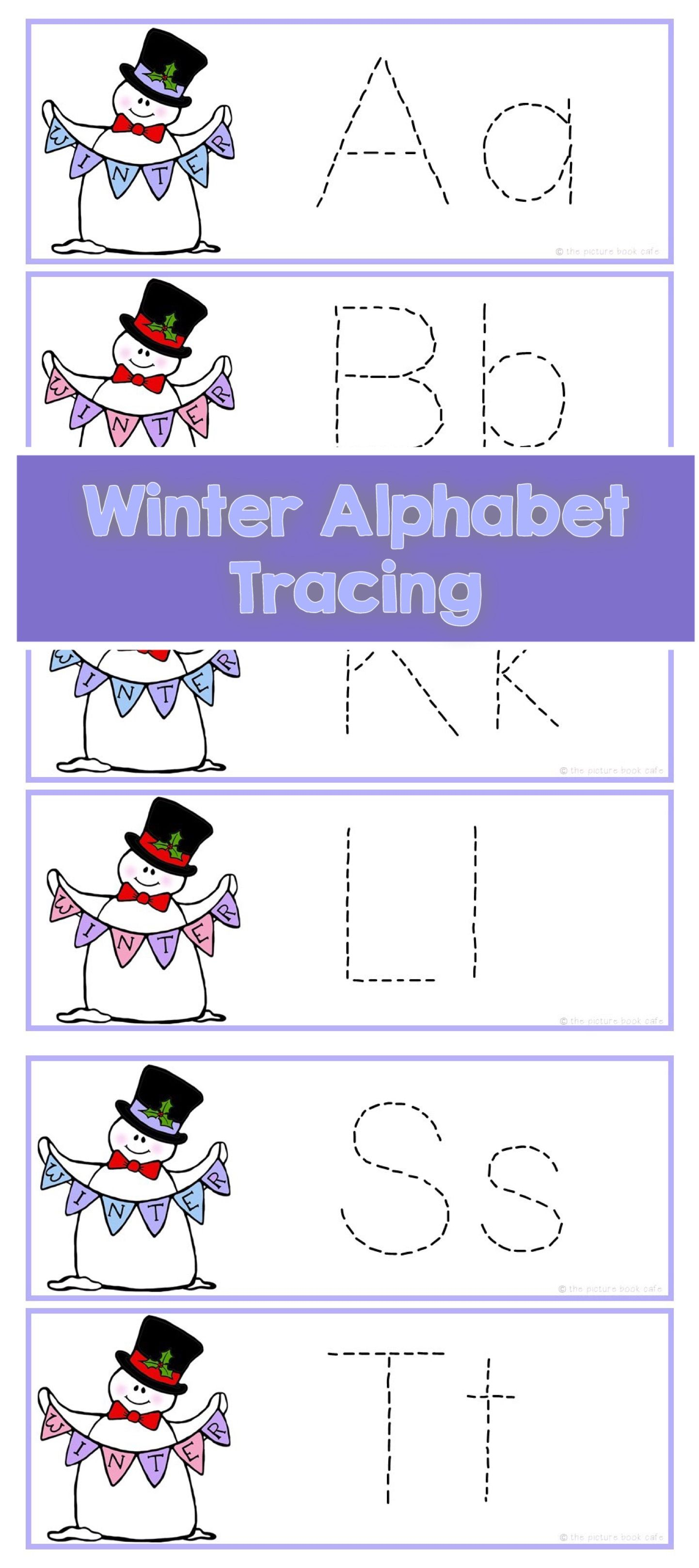 Letter Tracing Cards Winter
