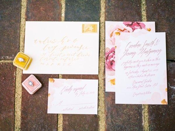Wedding Invitations In Maryland: Styled Bridal Shoot In Maryland