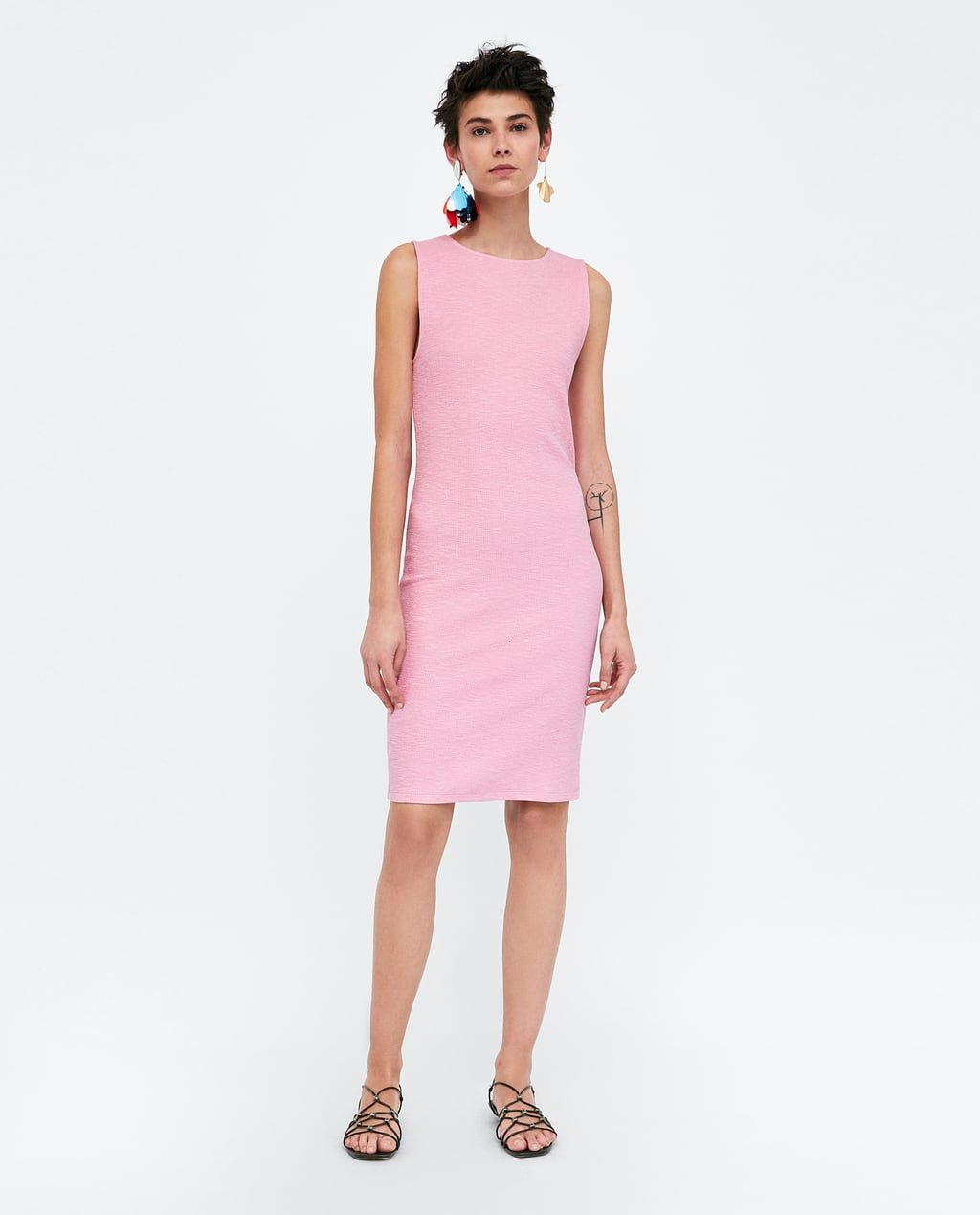 check out 802b4 7d7f4 Image 1 of TEXTURED SHIFT DRESS from Zara | Lady Parts ...