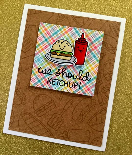the Lawn Fawn blog: Let's BBQ card by Lynnea.