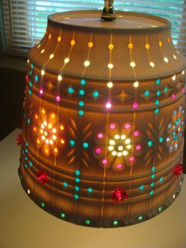 Vintage Lawnware Planter Retro RV Tiki Patio Swag Lamp Light KITSCH LITE  BRITE