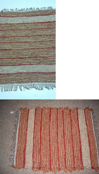 Woven Rag And Braided Rugs 160665 Amish Loom Rug Red And Rust With
