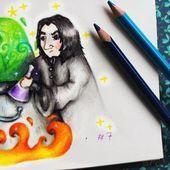 [Day #7- 🌙 Severus Snape / Favorite character] #potterweekprompts #severus #snape #drawingchallenge