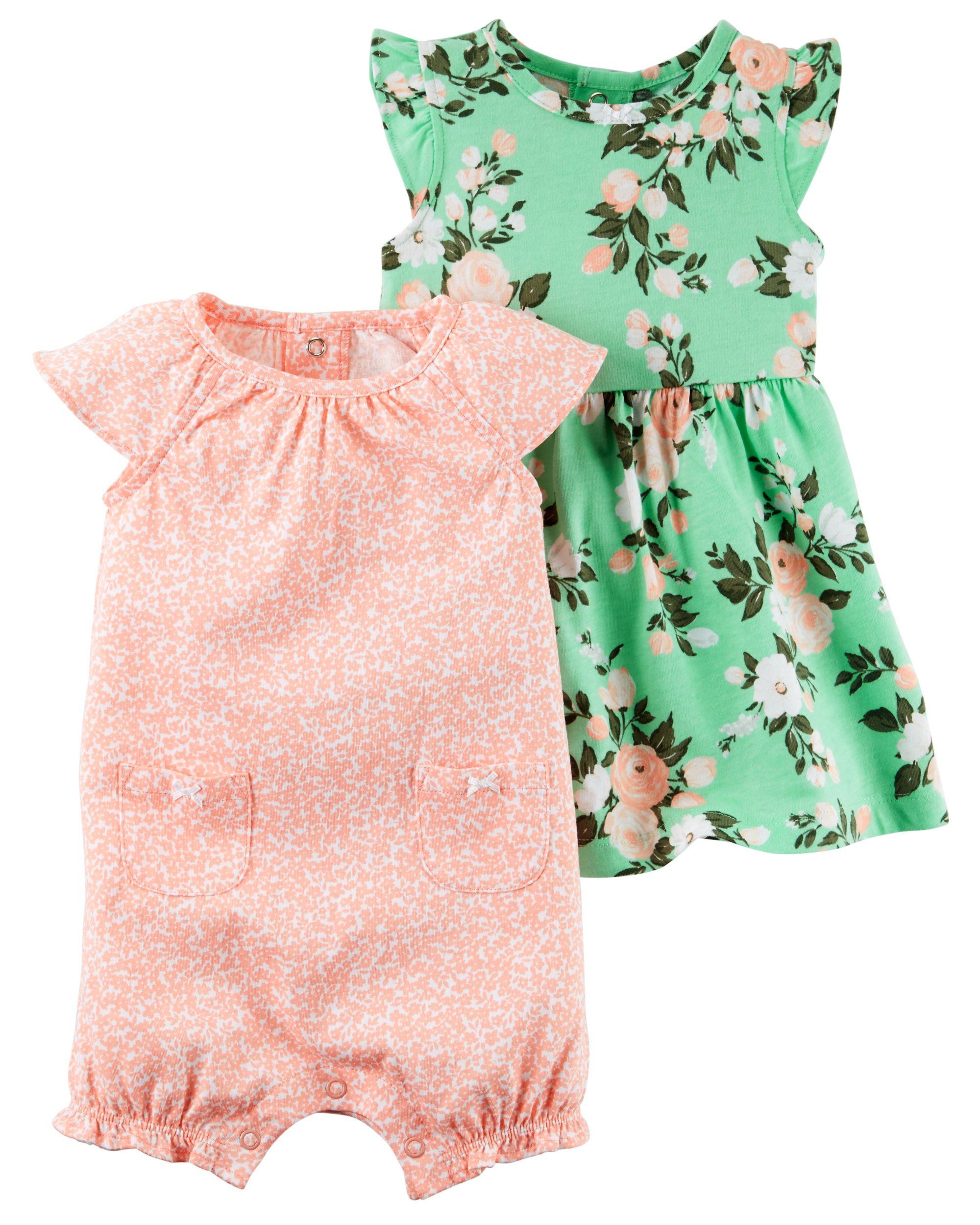 a927c8bab Baby Girl 2-Piece Dress & Romper Set | Carters.com | EJ | Baby ...
