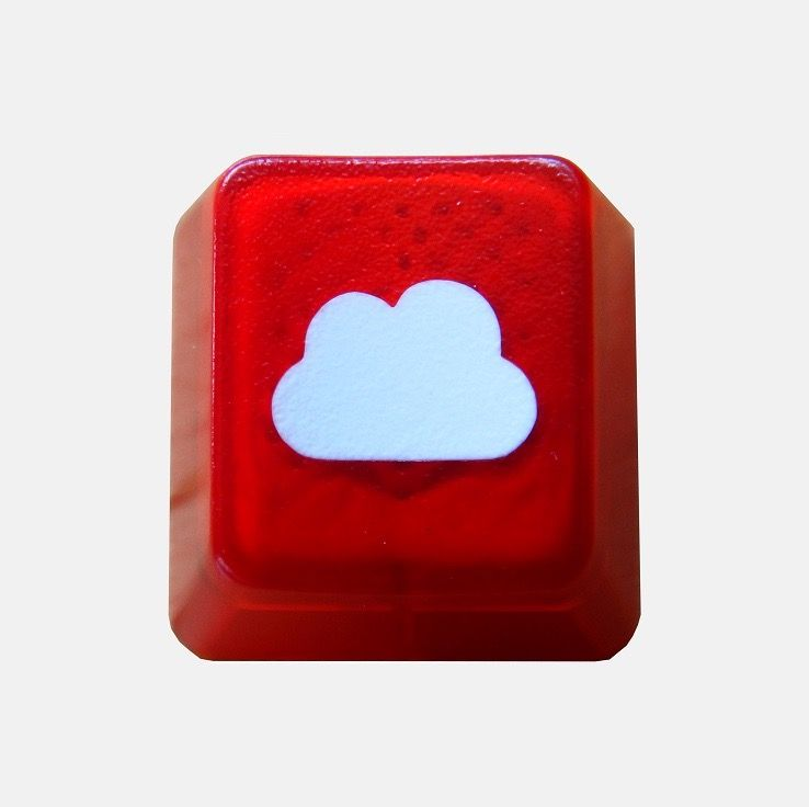 Translucent Cloudy Keycap[Red Edition] | pimp my keyboard