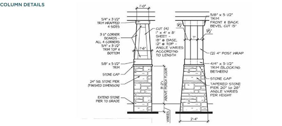 Craftsman porch columns ply gem trim mouldings craftsman for Arts and crafts porch columns