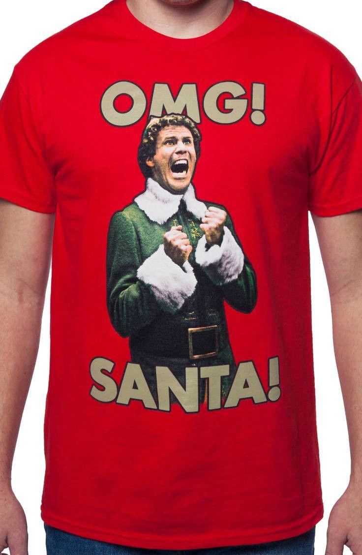 1f11aaf0958 OMG Santa I KNOW HIM! Elf T-Shirt  Christmas Movie Elf T-shirt