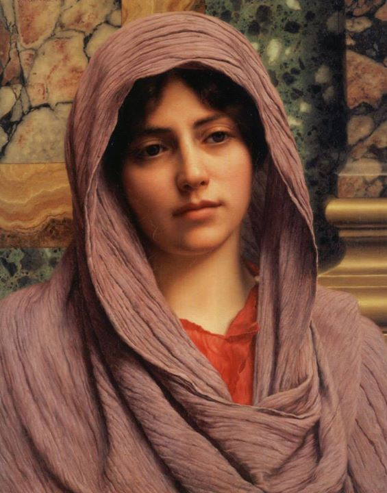 painting by John William Godward (1861-1922,England)