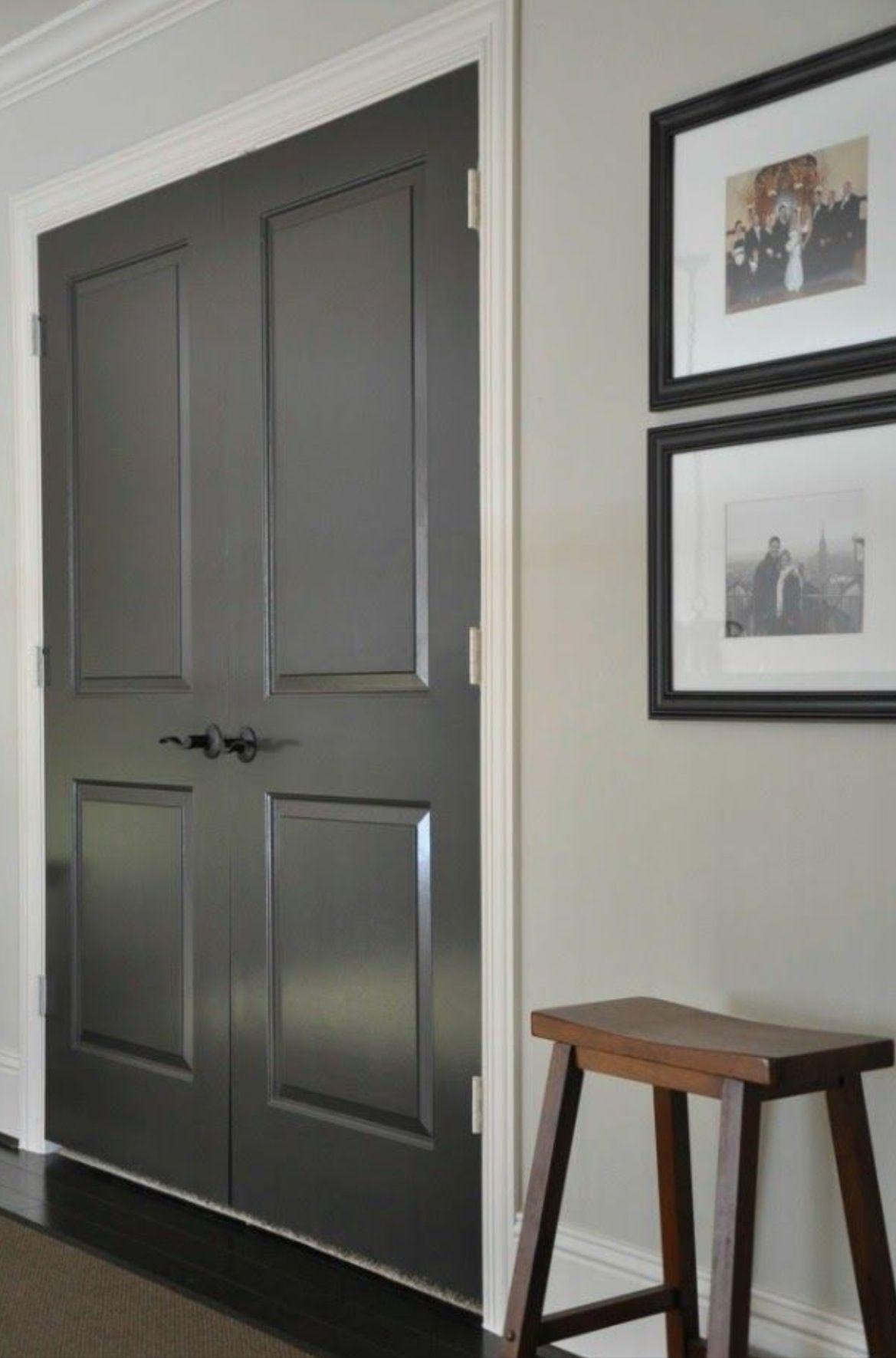 Darker Painted Doors With Light Walls Grey Interior Doors Interior Door Colors Interior Door Paint Colors
