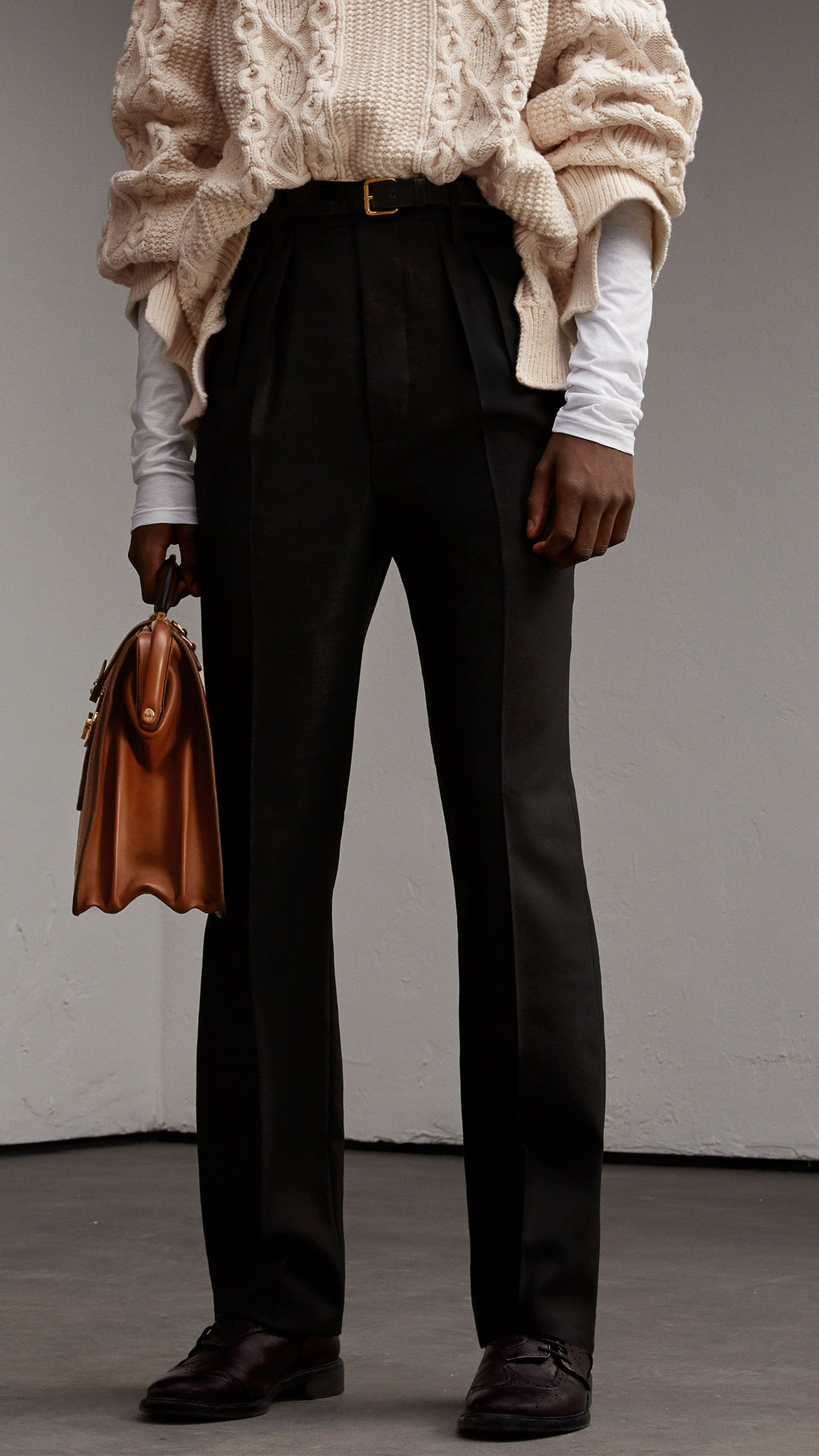 High-waisted Wool Trousers - Black Burberry Fashionable Cheap Online Cheap Sale Authentic Cheap With Paypal Discount Huge Surprise Outlet Store Irlcke