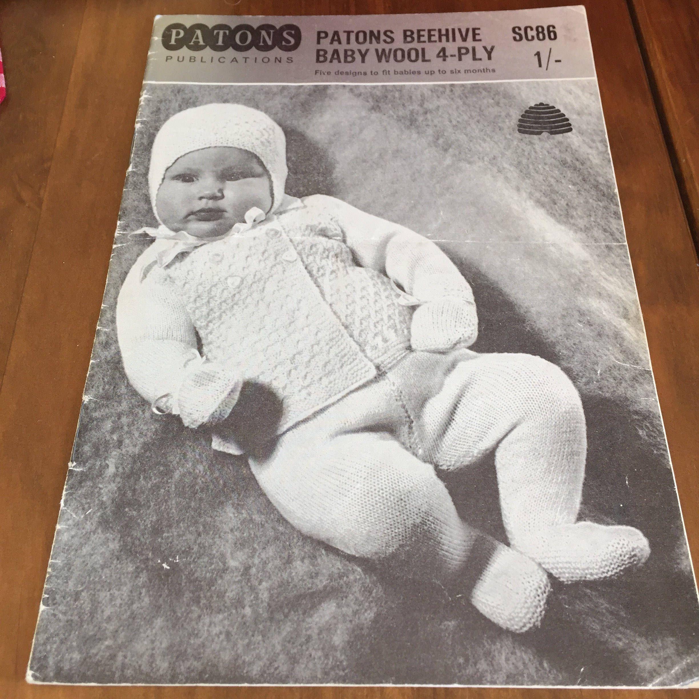 Vintage Baby Pattern, Vintage Baby, Baby Pattern, 1950s Baby Pattern ...