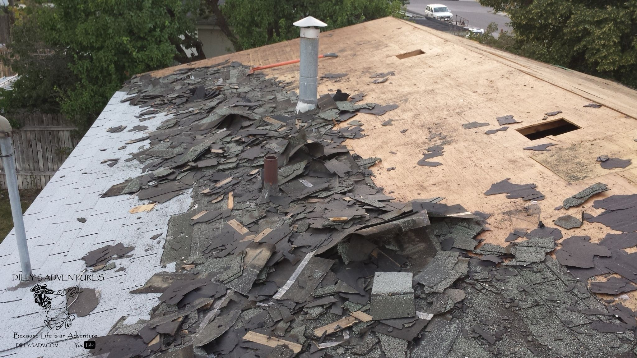 Payson House Roof Tear Off I Am Ok And Dealing With The Work To Do Roofing I Am Even Ok With Tear Off But 3 4 Layers Of All Kinds House Roof