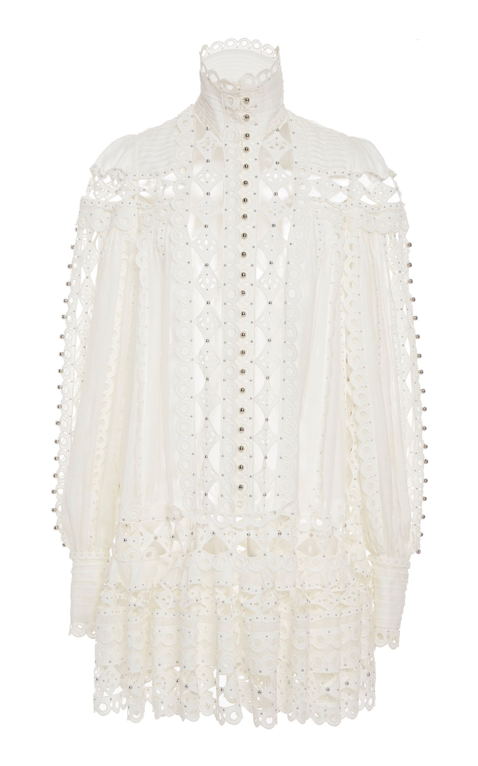3d941303597 Zimmermann Moncur Beaded Cotton-Blend Mini Dress in 2019 | THIS IS ...