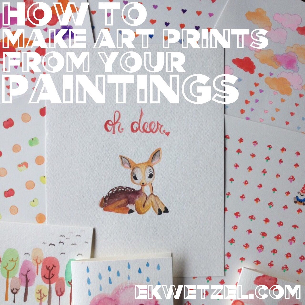 How To Make Prints From Your Paintings Drawings Finally A Simple