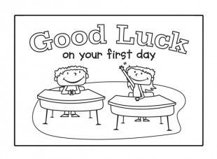 Make this card template to wish your child good luck on