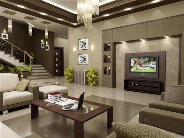 Beautiful Livingroom Class With Warm Rich Colors And Style   Sala Design With Stairs   Front   Showcase   Basement   Siri Ghar   Room Separation