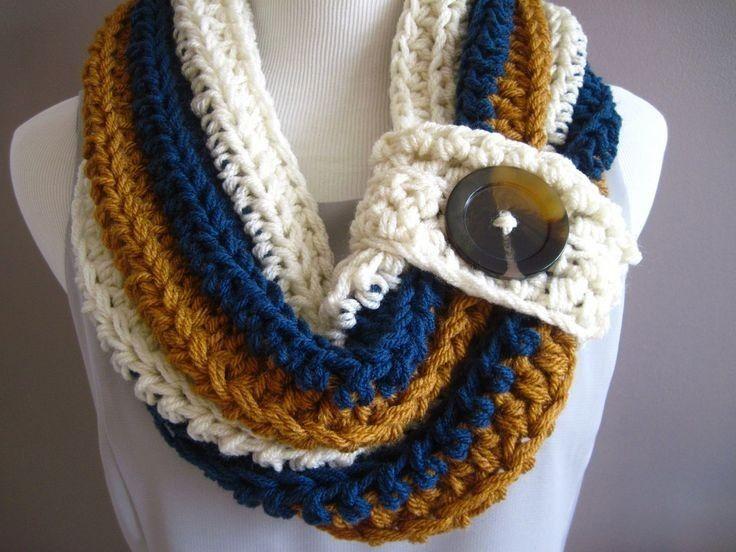 Cuellos Tejidos A Crochet - $ 200.00 en MercadoLibre | Tejidos ...