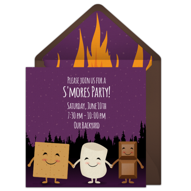 free s mores bonfire invitations free party invitations