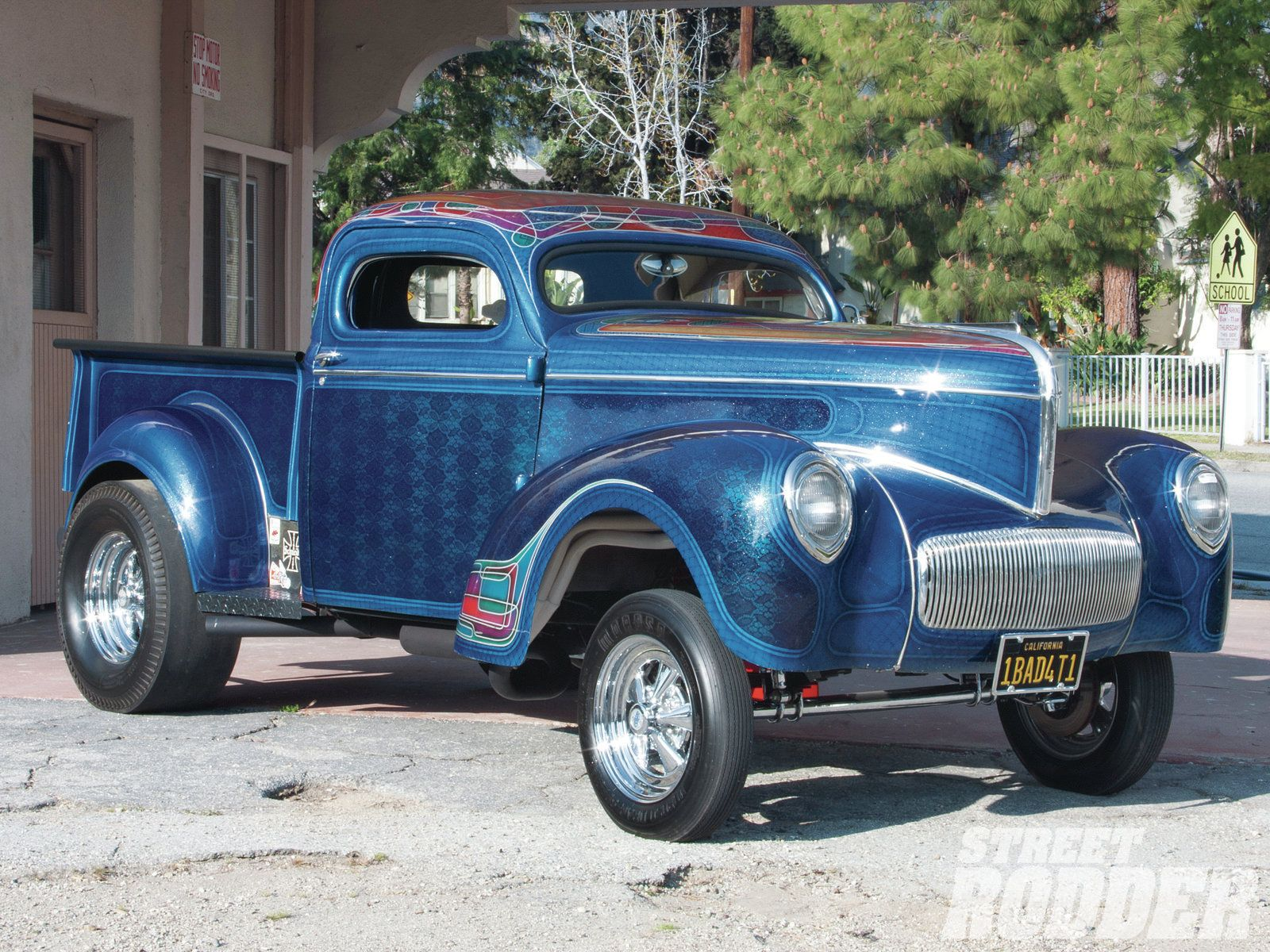 This 1941 willys pickup gasser is a veteran of the gasser wars