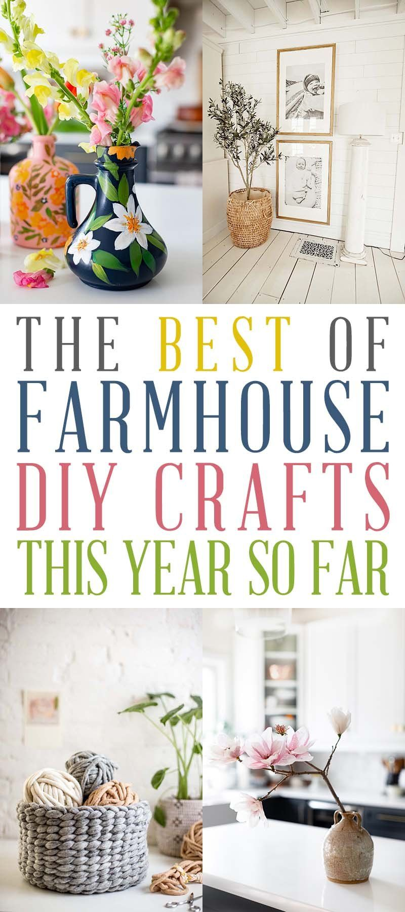The Best of Farmhouse DIY Crafts This Year So Far!  Come and check out some of the best Farmhouse DIY Crafts from this year!  You are going to love each and every one!  #Farmhouse #DIYFarmhouseCrafts #DIYCrafts #FarmhouseCraftDIYS