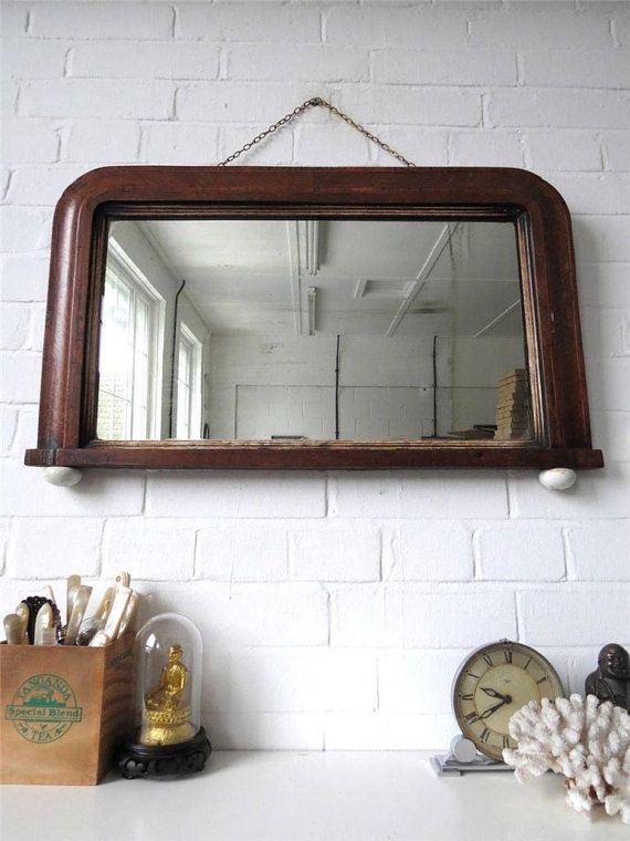 Vintage Large Wall Mirror with Wood Art Deco by uulipolli on Etsy