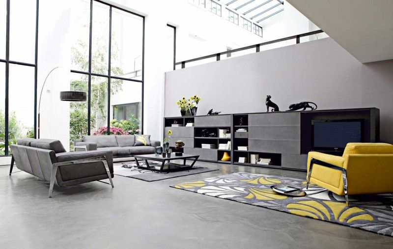 Grey And Yellow Living Room Color Them Lounge Room Pinterest