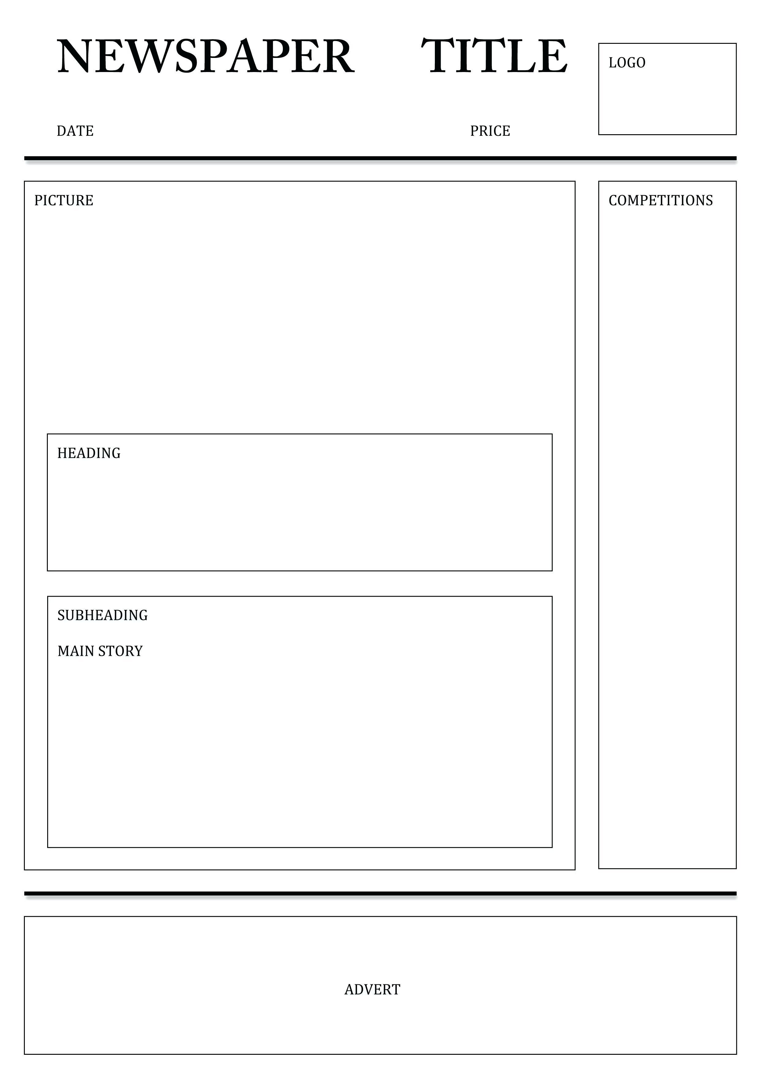 Newspaper Template For Word Excel