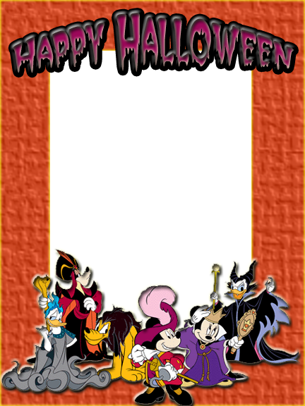 disney happy halloween frame