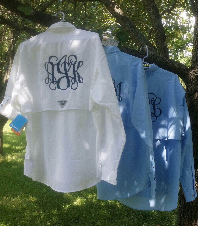 146934dfba363 Monogrammed Fishing Shirts Long Sleeve | Top Mode Depot