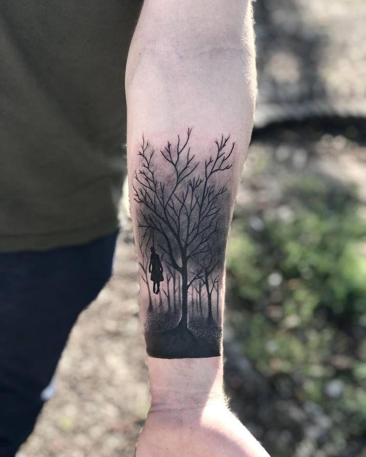 Dark Tree Tattoo : tattoo, Creative, Forest, Tattoo, Designs, Ideas, TattooAdore, Tattoos,, Tattoos