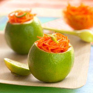 Citron vert et carottes râpées au citron de Sicile
