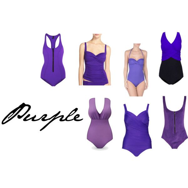 Purple Swimwear by khill-iv on Polyvore featuring Lisa Marie Fernandez, Miraclesuit, La Blanca and S&S