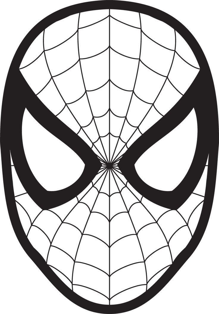 coloring pages spiderman masks - photo#14