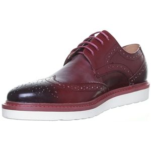 justin reece mens thick white sole brogue lace up smart