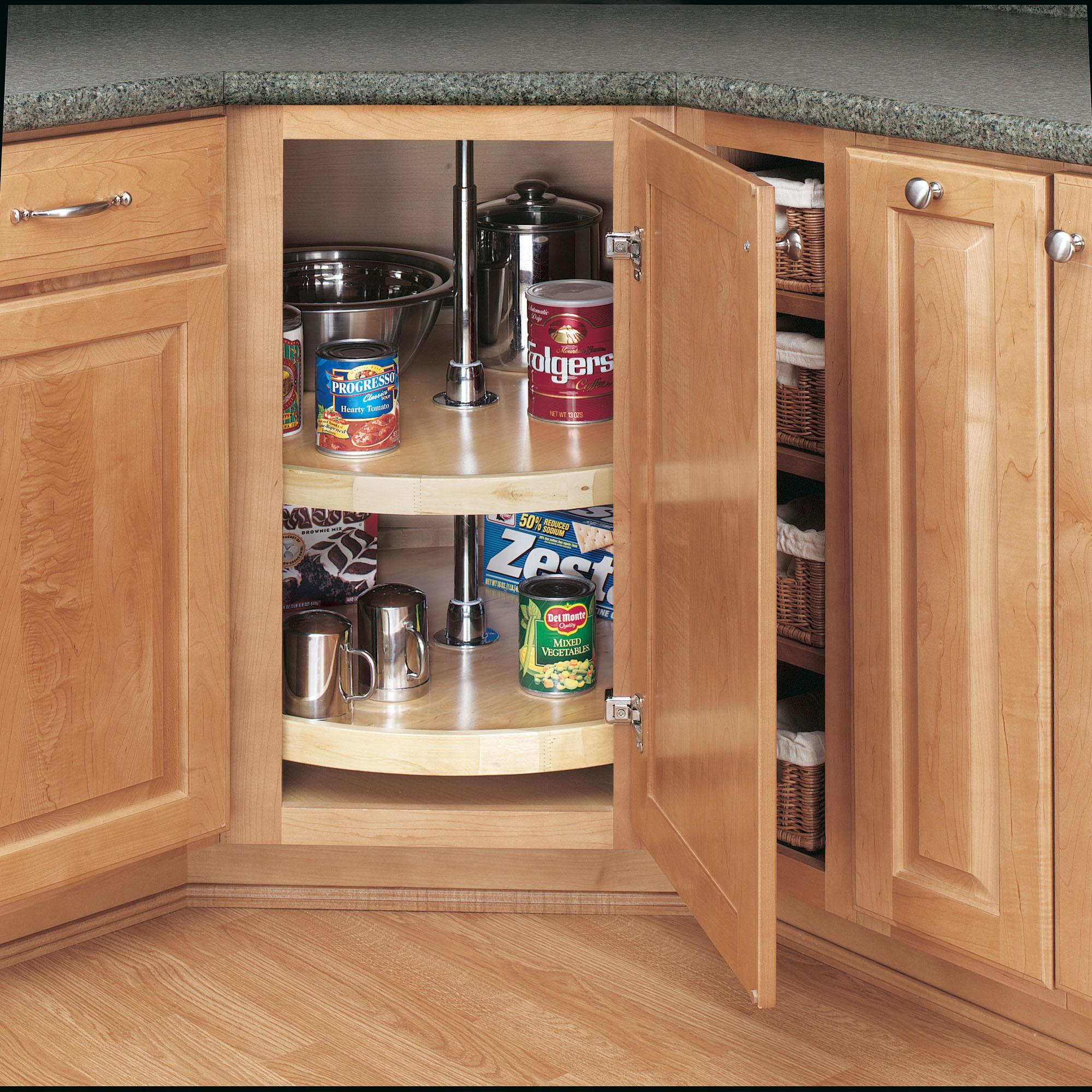 Full Circle 2 Shelf Lazy Susan Corner Kitchen Cabinet Pantry Design Corner Cabinet