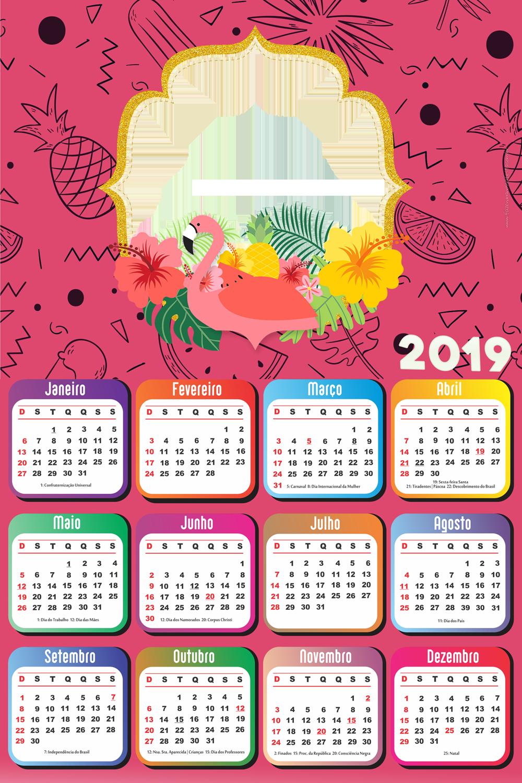 Calendario Rosa Png.Pin By Fabiana On Calendarios Calendar Design Flamingo