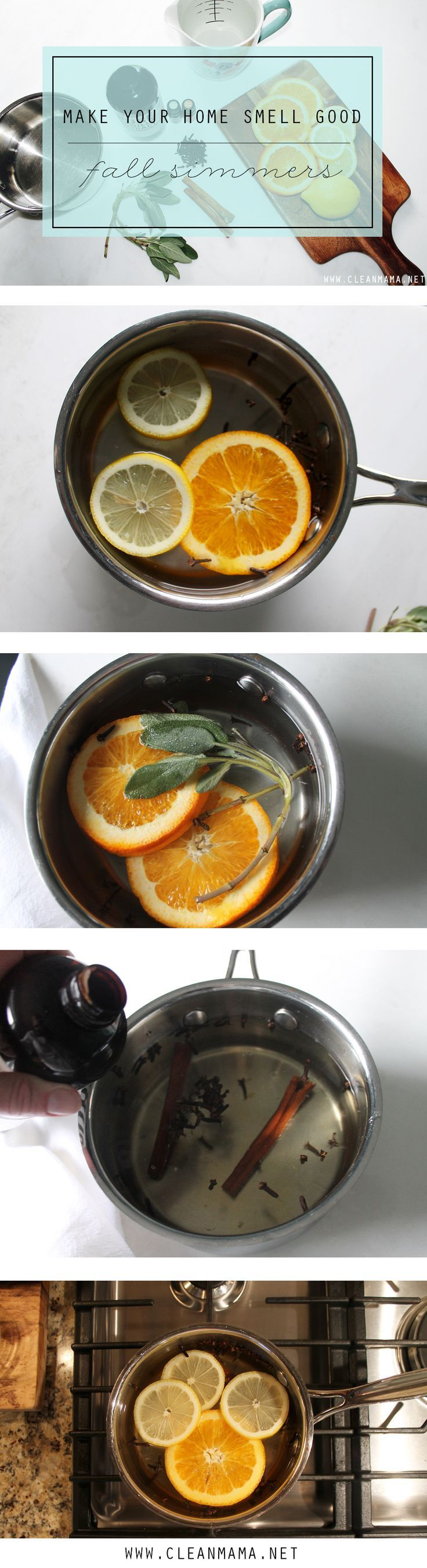 Scent Your Home Naturally With These Deliciously Scented Simmers Make Smell Good 3 Fall Via Clean Mama