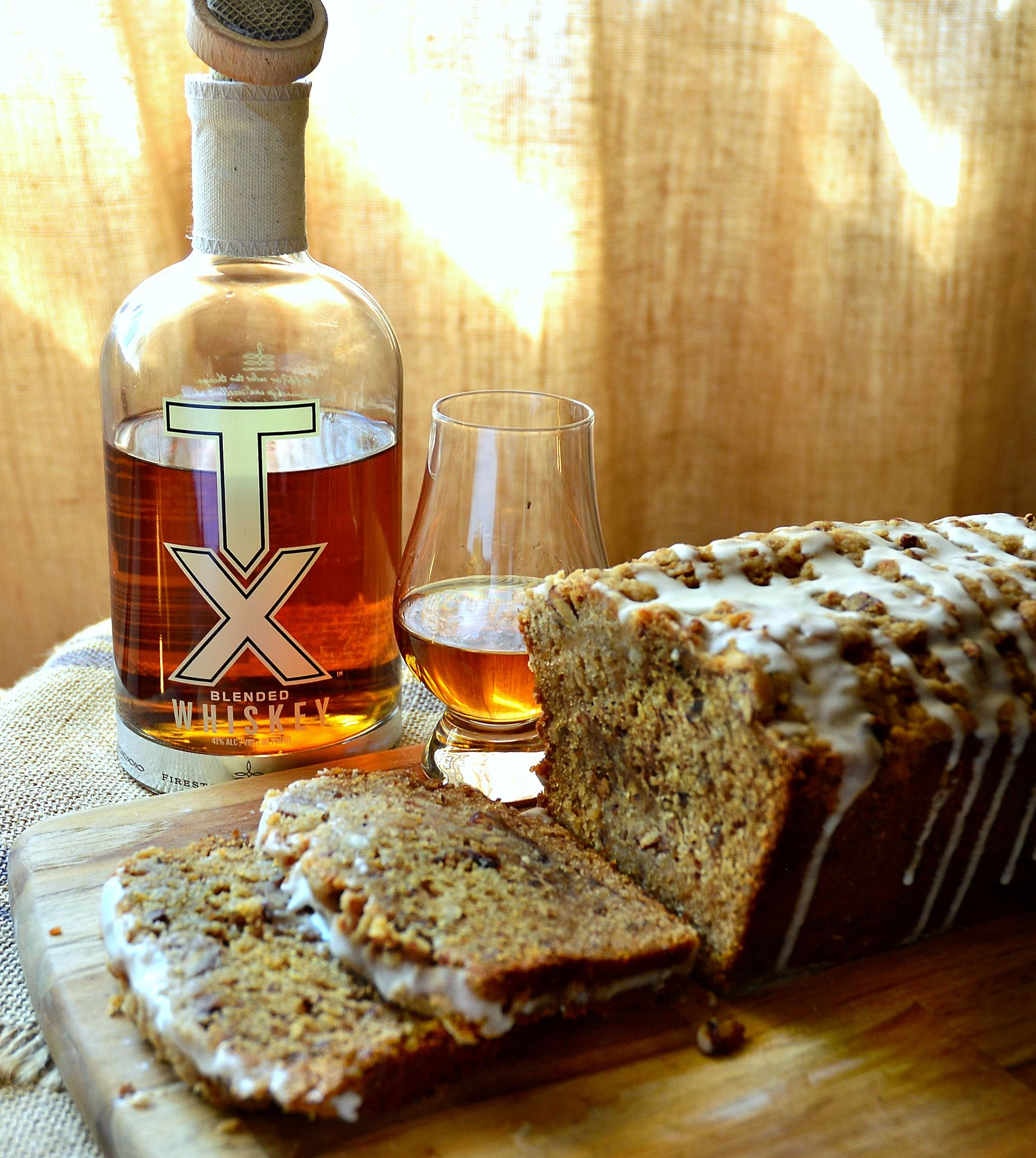 Honey Cake With Whiskey And Pecans #TXWhiskey