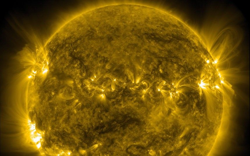 This image dated 3 October 2011 shows a quiet corona and upper transition region of the Sun