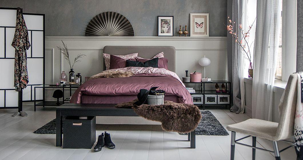 Slaapkamer in hotelsfeer, met boxspring - Home | Pinterest ...