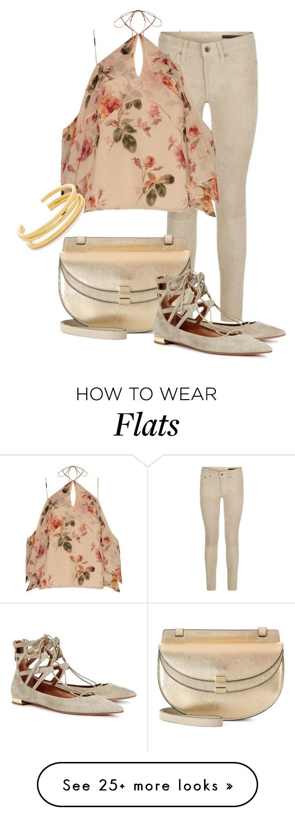 """pastels"" by jana-zed on Polyvore featuring rag & bone, Exclusive for Intermix, Chloé, Aquazzura, Madewell, chloe, ragandbone and intermix"
