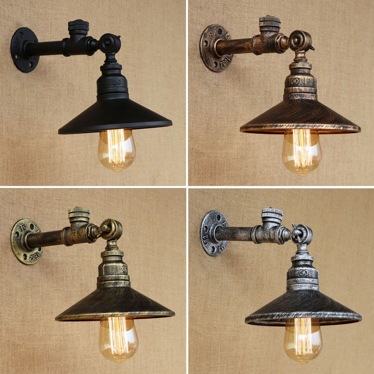 Industrial Water Pipe Vintage Wall Lamp Sconce Retro Iron Wall Light with Switch