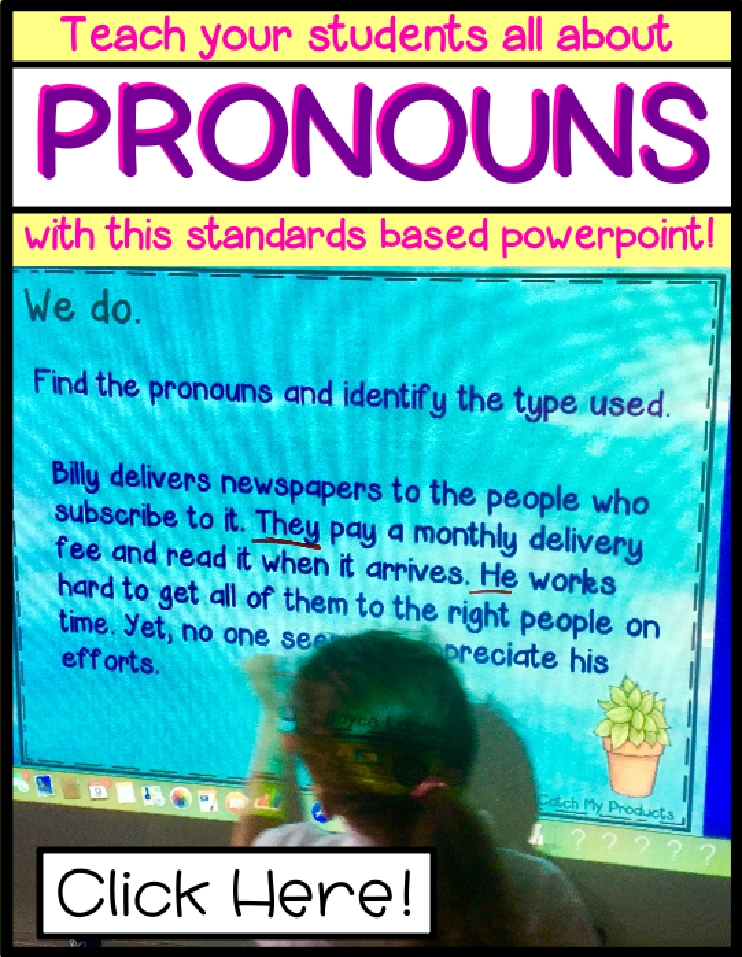 Pronouns Powerpoint And Worksheet