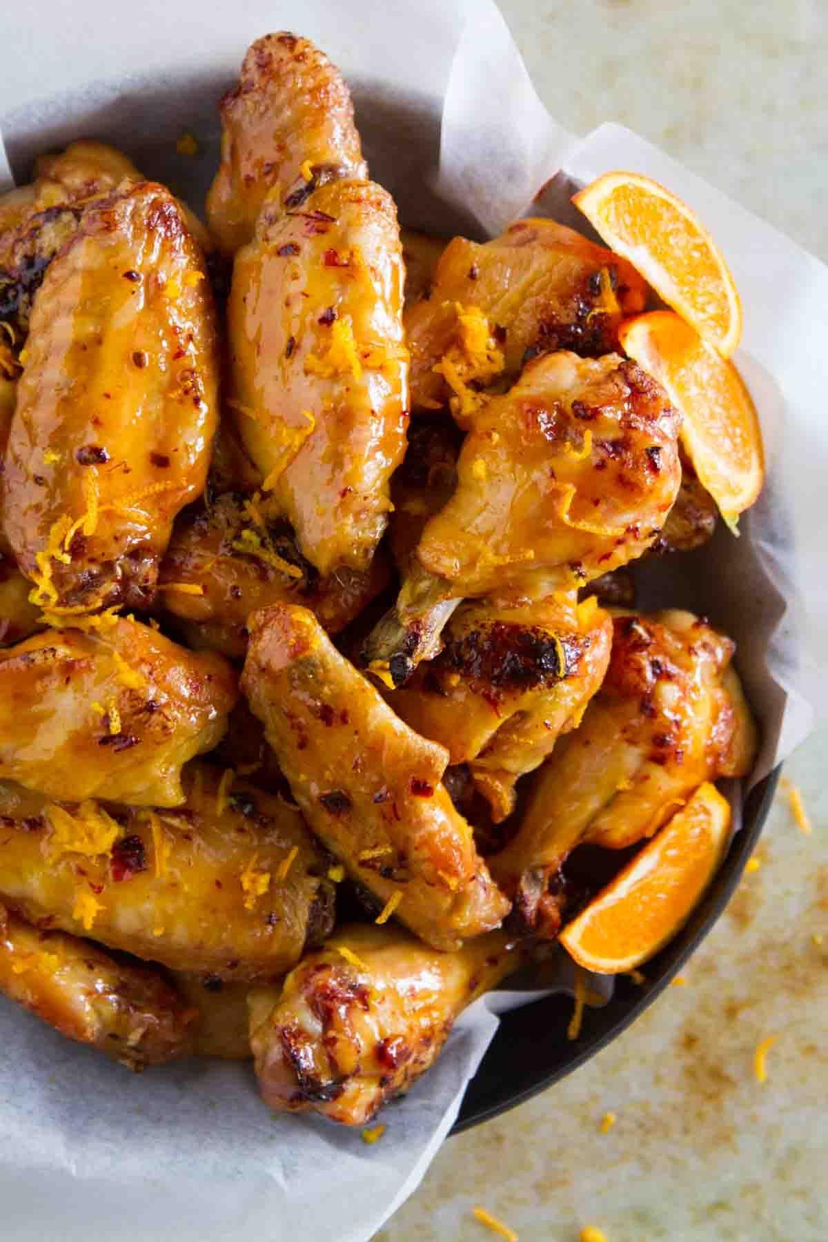 Chipotle Orange Chicken Wings Recipe Chicken wings