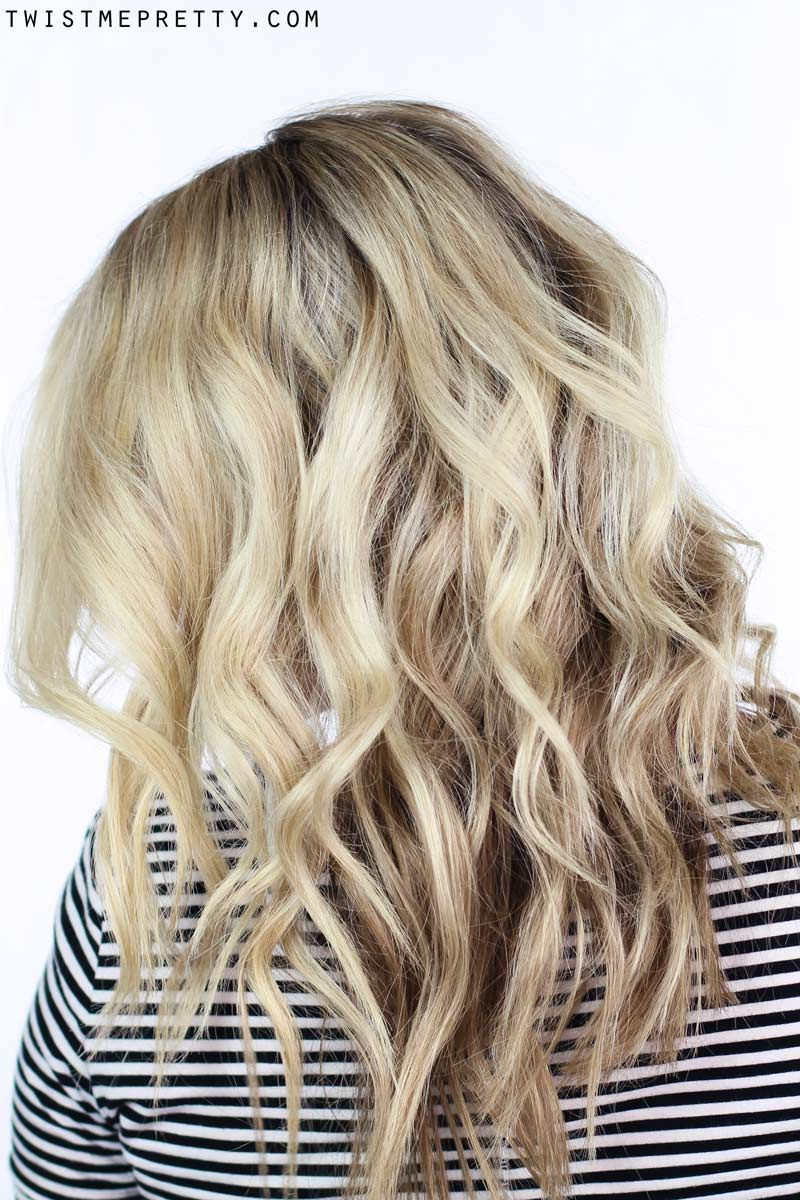 How to soft waves using a curling wand twist me pretty soft