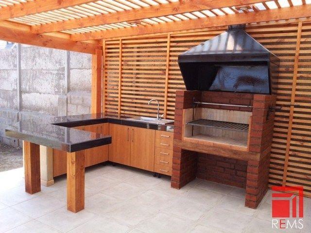 Construccion de cobertizos terrazas p rgolas quinchos - Barbacoas para terrazas ...