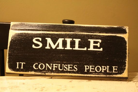 SMILE it confuses people by SimplymadesignsbyB on Etsy, $15.00