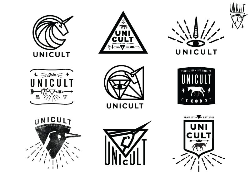 Unicult logos art club logos and art for Branded t shirt company names