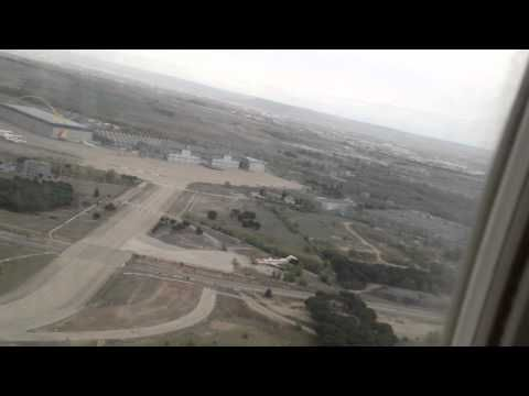 Despegue desde el interior de un avión en el aeropuerto Madrid-Barajas (HD) - YouTube