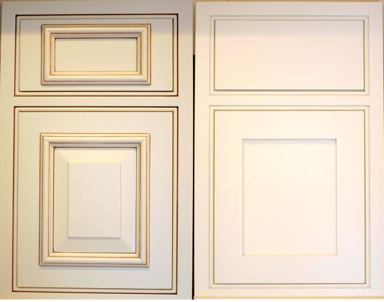 White Cabinet Door Design adding trim to kitchen cabinet doors | kitchen cabinets shaker